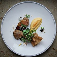 Amazing plate by @evgeny_nasyrov Farmer quail turnip puree black mountain ash coriander-caraway puff chips and cress by foodformind.russia