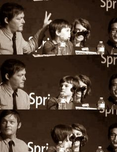 Norman Reedus and Chandler Riggs - Norman Reedus is a freaking funny dude!