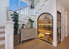 Wine Cellar Ideas Wine Cellar under the stairs. #WineCellar