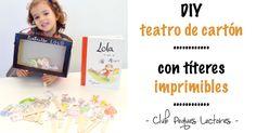 DIY teatrillo loco ¡con imprimibles! Diy Educational Toys, Diy Toys, Frame, Texts, Amor, Activities For Kids, Learning, Creativity, Sylvanian Families