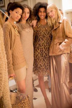 Petit photo de Lineisy Montero, Yasmine Wijnaldum, Imaan Hammam & Julia Nobis chez Ralph Lauren