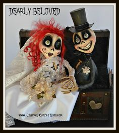 Dearly Beloved Trunk Monsters Skeletons created by LeeAnn Kress of Charmed Confections. www.charmedconfections.com