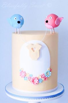 Gender reveal session idea. Too cute. Blue or pink cake inside. AWESOME!