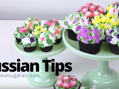 """Learn how to make beautiful buttercream flowers in a flash with the new """"Russian Piping Tips"""". With just a few tips, buttercream"""