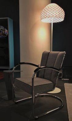 Dutch Originals Lounge Chair Gispen 412 (Willem Hendrik Gispen, 1934) and FLOS Floor Lamp Tatou F (Patricia Urquiola, 2012)