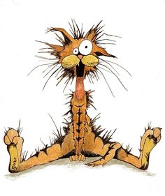 Bill the Cat -- The most dysfunctional Kitty EVER! As in Bill & Opus the penguin from Bloom County. I Love Cats, Crazy Cats, Cute Cats, Funny Cats, Funny Animals, Cute Animals, Silly Cats, Bill The Cat, Image Chat