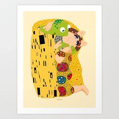 Klimt muppets Art Print by tuditees - $16.64