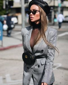Pretty Street Style To Inspire Yourself - Fashion Looks 2019 Estilo Casual Chic, Casual Chic Style, Classy Chic, Womens Fashion Online, Latest Fashion For Women, Look Fashion, Fashion Outfits, Fashion Styles, Look Blazer