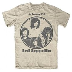 0c11e9d66 An Evening With Led Zeppelin T-Shirt Logos Circulares, Camisas De Bandas  Vintage,