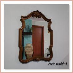 SPECCHIO VINTAGE in legno massello, a parete, in stile Barocco, restaurato #vintage #home #casa #stile #legno #arredamento #ideedeco #ebay Ebay Shopping, Clock, Mirror, Antiques, Business, Vintage, Home Decor, Home, Watch