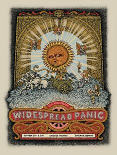 Widespread Panic - Chicago Theatre Poster 2011 by Marq Spusta