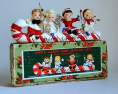 Commodore Christmas Figurines in Box Candy by SentimentalFavorites Commodore #Christmas #Cane