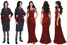 MD: Seeing all these concepts of Asami's outfit together really reminds me how important a character's costume is and how it helps illustrate his or her personality and role in the story. I love the...