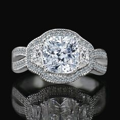 Engagement & Wedding Romantic 3.5ct.radiant Intense Canary Cubic Zirconia Cz Classic Wide Shank Ring Special Summer Sale