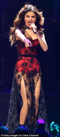 A-list show: Rhianna will be performing along with Selena Gomez, who can be seen at the 2013 Jingle Ball