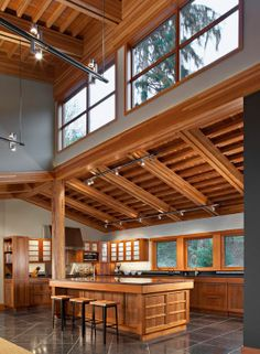 . Home Interior Design, Interior Architecture, Style At Home, Casas Containers, Pole Barn Homes, Cabin Interiors, Dream House Plans, Cuisines Design, Building A House