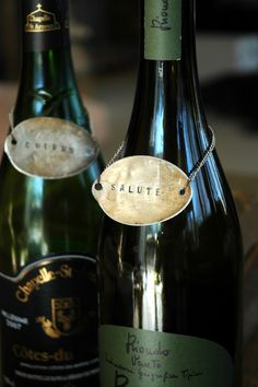 Wine Tags made from recycled vintage silverware