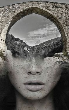 Beautifully Surreal Portrait Series Blended into Landscape Photos by Antonio Mora. Spanish artist Antonio Mora specializes in creating dream-like Photomontage, Creative Photography, Art Photography, Aerial Photography, Night Photography, Landscape Photography, Double Exposure Photography, Multiple Exposure, Spanish Artists