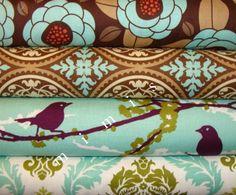 Lindo Kawaii Fox Tela de algodón artesanía acolchado cuarto Gordo Tela de tapicería