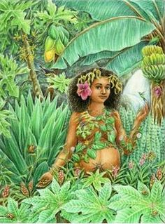 green - woman -  atabex - painting - HRANA JANTO