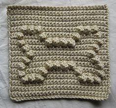 Dog Bone Bobble Chart Free Crochet Pattern from Kari Philpott