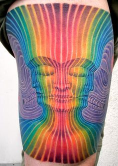 Striped color work by Dominick McIntosh nice alex grey tattoo! Alex Grey Tattoo, Home Tattoo, God Tattoos, Life Tattoos, Baby Tattoos, Unique Tattoos, Beautiful Tattoos, Amazing Tattoos, Beautiful Body