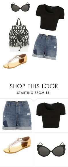 """""""Untitled #3"""" by ingredycorreia ❤ liked on Polyvore featuring River Island, Topshop and Giuseppe Zanotti"""