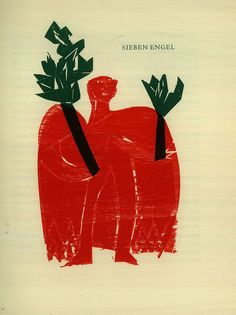 HAP Grieshaber – Sieben Engel, 1962