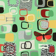 Palm Prints, Cinnabar Moth V Nz Art, Contemporary Artwork, Moth, Original Artwork, Illustration Art, Orla Kiely, Sculpture, Gallery, Fabric