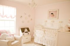 Vintage pink and white nursery. #vintage #nursery