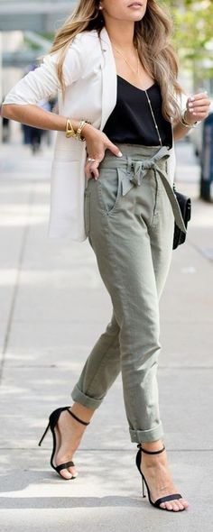 nice Maillot de bain : #summer #outfits / military green + blazer...