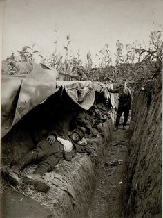 WWI, 1917; Austro-Hungarian soldiers rest in a narrow trench in a cornfield near Skala on the Zbrucz River. -Pike Grey 1914-1918 (@PikeGrey1418)   Twitter