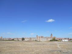 Vista de Madrigal de las Altas Torres en la queda claro de donde viene el nombre.Este tramo de muralla, entre la Puerta de Peñaranda y el Portillo o Torre del Rayo esta sin restaurar a diferencia del de la zona de la Puerta de Arévalo.