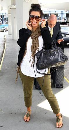 82599421be Celebrity Fashion Outfit  Kim Kardashian at JFK Airport