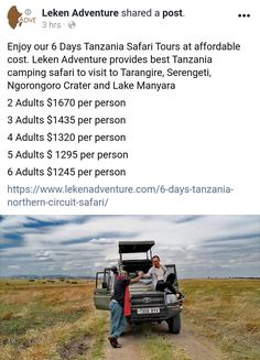 Tanzania Safari, Kilimanjaro, Days Of The Year, Join, Tours, Adventure, Group, Adventure Movies, Adventure Books