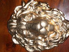 Löwenkopf gold Türdeko Gartenfigur Steinfiguren Schutzengelein http://www.amazon.de/dp/B00SJYPF0Y/ref=cm_sw_r_pi_dp_N6h3ub1KAFQ1B