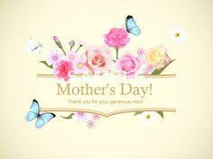 おしゃれな母の日 イラスト 508 Father Day Ad, Mother And Father, Mother Day Gifts, Fathers Day, Mothers Day 2018, Mom Day, Banner Design, Place Card Holders, Seasons