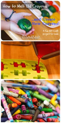 How to melt old crayons and create new crayons: a fun DIY project for kids