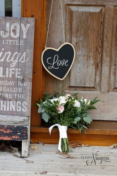 Love love love this beautiful wedding bouquet and chalkboard sign prop Wedding Chalkboards, Chalkboard Wedding, Chalkboard Signs, Chapel Wedding, Beach Themes, Love Life, Wedding Bouquets, Wedding Photos, Creative