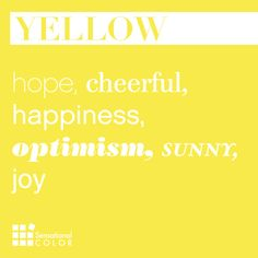 Words That Describe Yellow - Sensational Color