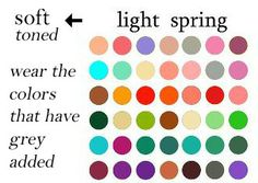 If you are light spring soft,  use the deep winter palette but keep to those colors greyed.