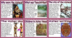 KS2 History Resources, The Aztecs Posters for Classroom Display