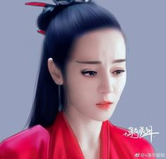 Địch Lệ Nhiệt Ba vào vai Liệt Như Ca trong phim Liệt hỏa Như Ca - Lấy ảnh xin ghi nguồn #Ruima vẽ tay
