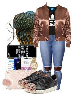 """""""You Just Tryna Be Somebody, Before You Say Ya Need Somebody 💛"""" by shamyadanyel ❤ liked on Polyvore featuring Casetify, Rebecca Minkoff, T By Alexander Wang, adidas Originals, Topshop and Avenue"""