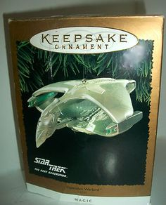 1995 Star Trek Next Generation Romulan Warbird Hallmark Keepsake Ornament Light