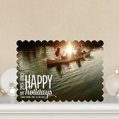 Scripted Revelry - #Holiday Greeting Cards is the perfect card for displaying a gorgeous family photo.