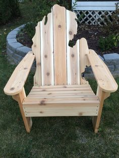 Michigan Adirondack Chair Black Leather Arm 21 Best Chairs Images Wood Items Similar To On Etsy