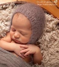 dentelle mohair hat Crochet vintage baby bonnet photo prop