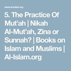 The Practice Of Mut'ah Books On Islam, I Muslim, My Books, Advice, This Or That Questions, Tips