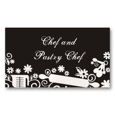 Baker baking pastry chef utensils black business c business card